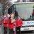 Karnevalisten der KG Stachelditzges werden vom Bus angeliefert