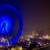 Blaue Riesenradaura im Nebel